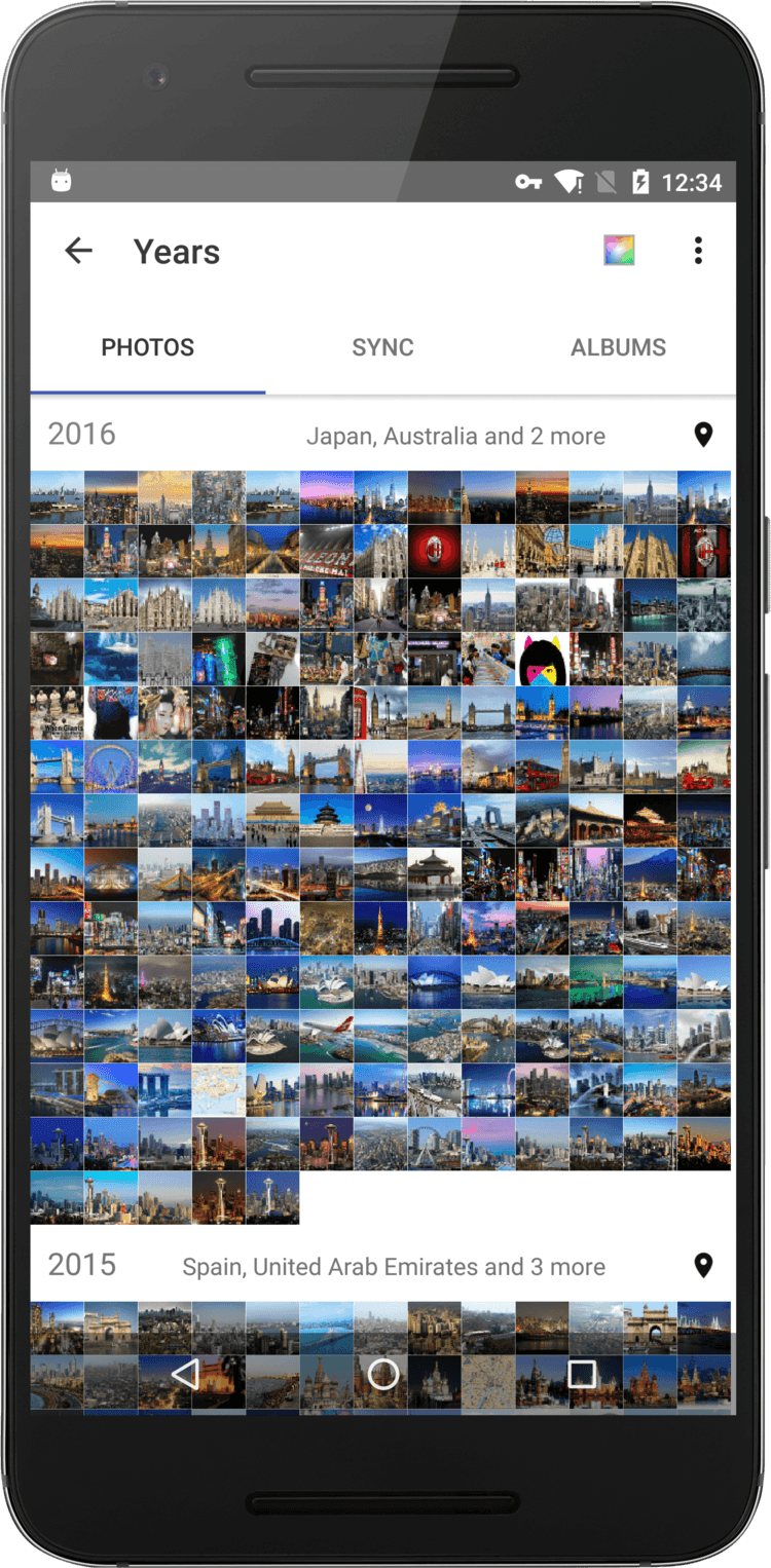 See your photos by Year, Collections and Moments!